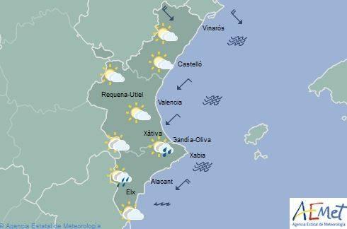 El frente frío continúa hoy con cielos cubiertos y chubascos matinales