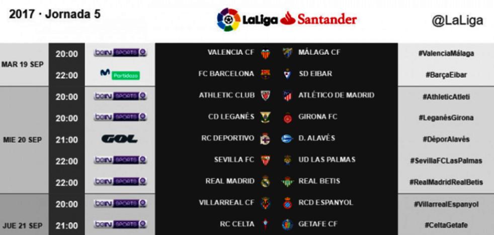 Directo | Valencia CF vs. Málaga FC. Horario y televisión. Jornada 5 Liga Santander. Ver online