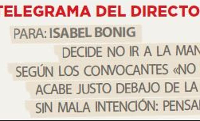 Telegrama para Isabel Bonig