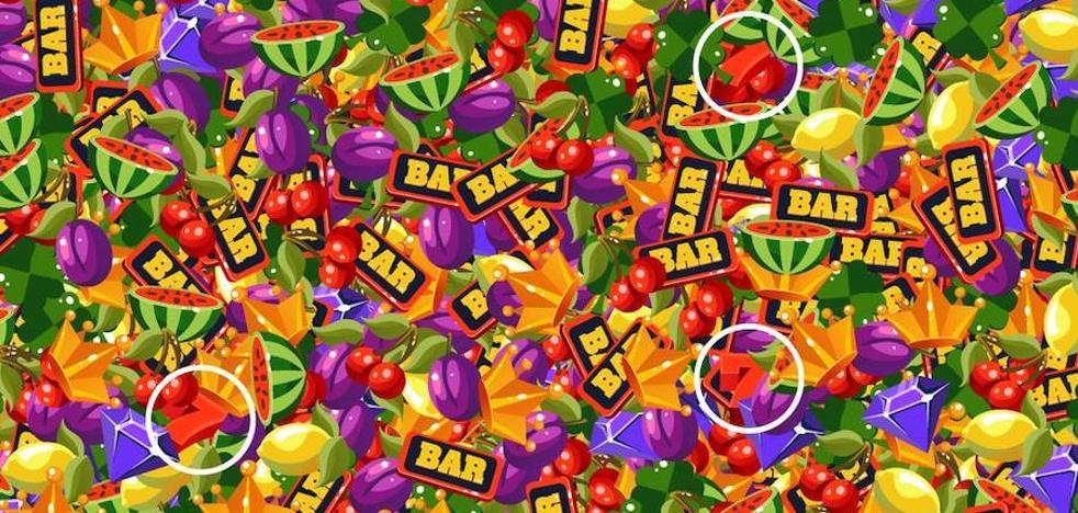 Solución | Encuentra los tres 7 escondidos entre las frutas de la tragaperras