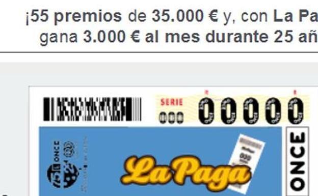 La ONCE reparte 700.000 euros en Guardamar del Segura con el cupón diario del martes