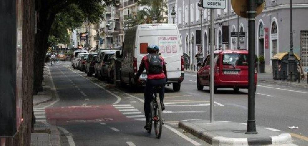 Los atropellos de ciclistas a peatones en Valencia superan los de 2016 a tres meses de acabar el año