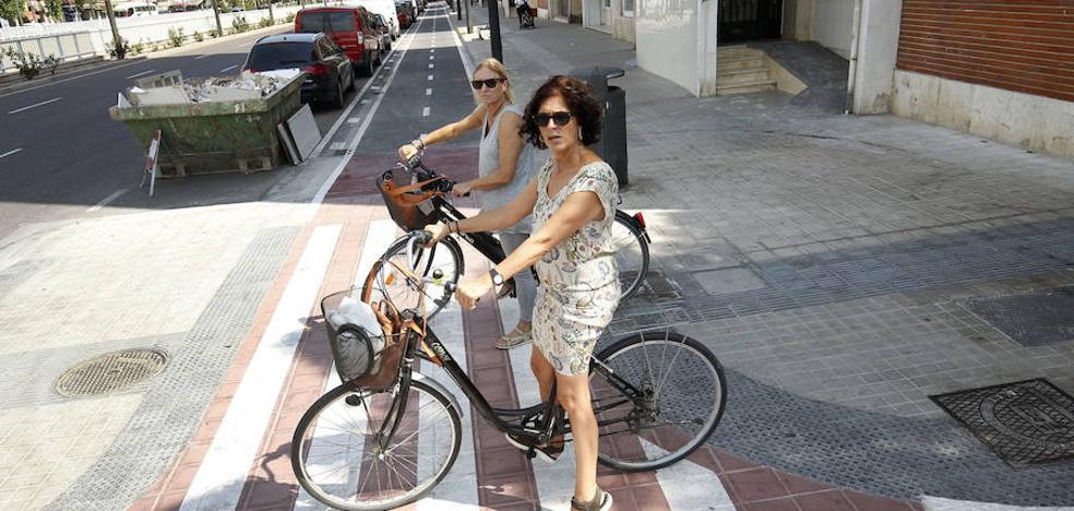El Ayuntamiento de Valencia rescinde el contrato con la empresa encargada del carril bici previsto para Avenida del Cid