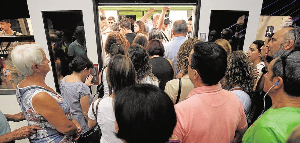El lunes habrá huelga de 24 horas en el metro y tranvía