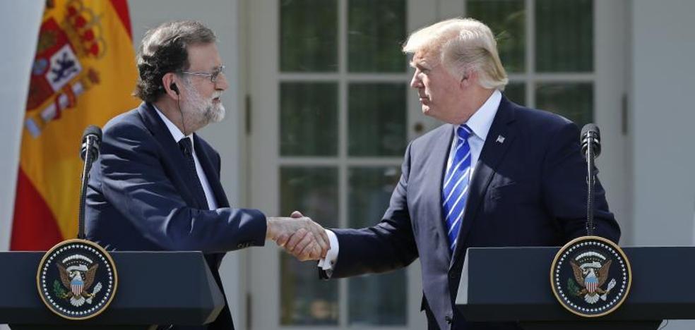 Trump brinda su apoyo a Rajoy: «España es un gran país y tendría que seguir unido»