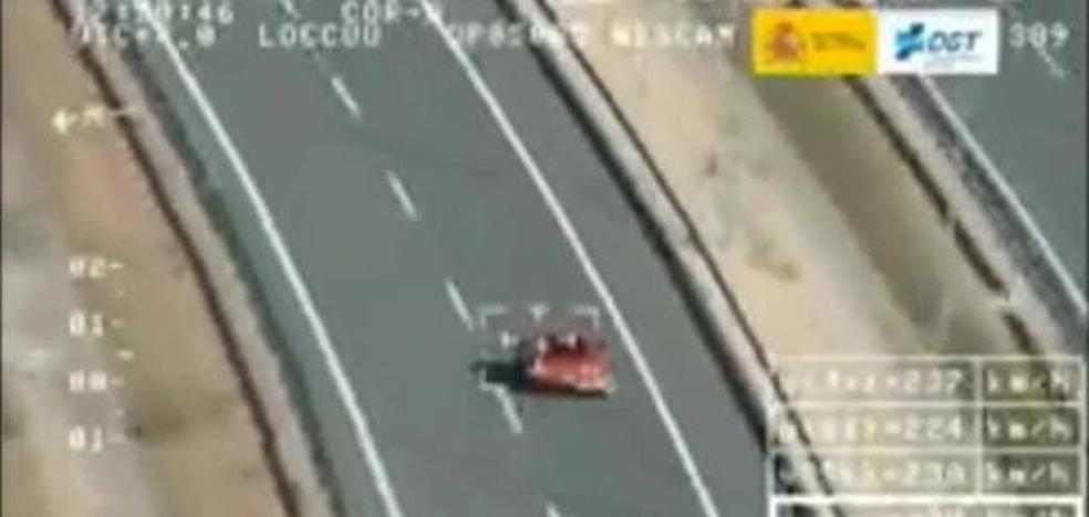 Pegasus 'caza' a un conductor a 245 km/h