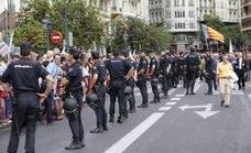 La policía blindará la procesión del 9 d'Octubre para reducir el riesgo de atentados