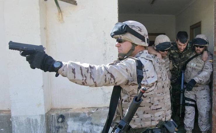 Fotos de los entrenamientos de la Policía Militar en Valencia