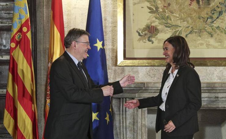 Fotos de la elección de Margarita Soler como presidenta del Consell Jurídic Consultiu (CJC)