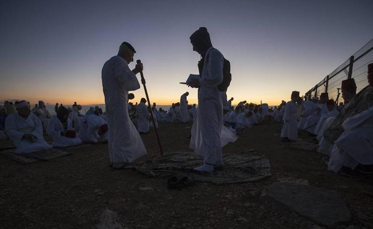 Fotos de la comunidad samaritana celebrando en Sucot