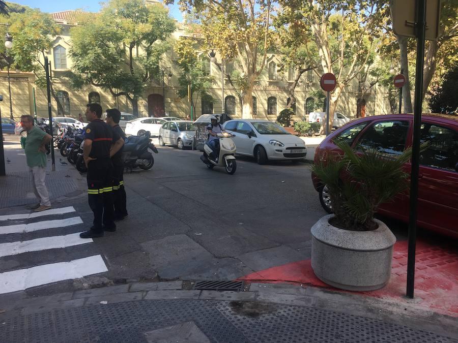 Los Bomberos comprueban si pueden acceder a las nuevas calles peatonalizadas por Grezzi