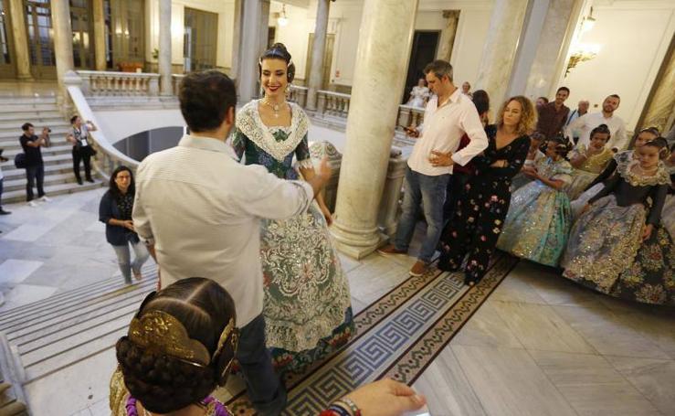 Fotos del ensayo de la proclamación de las Falleras Mayores de Valencia 2018