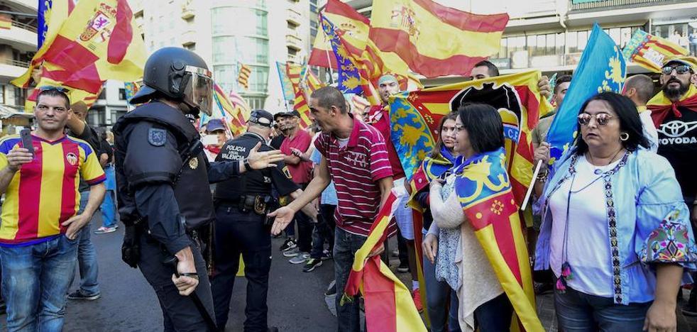 Delegación del Gobierno identifica a varios agresores de la manifestación del 9 d'Octubre