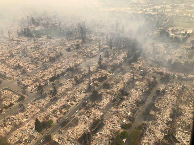 Fotos de los incendios en California