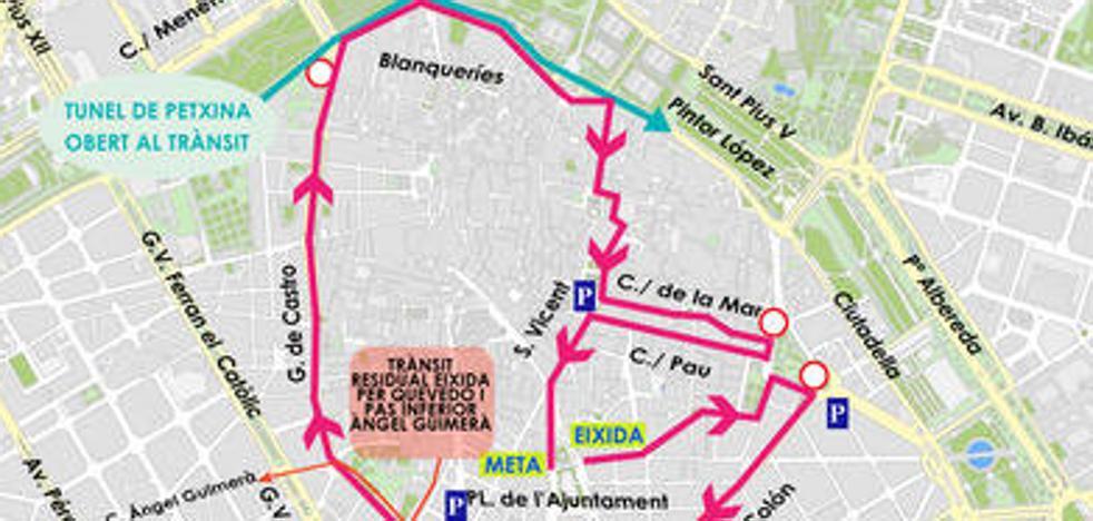Consulta las calles cortadas este domingo por la VIII Volta a Peu de les Falles