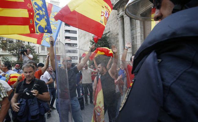 Un detenido por las agresiones del 9 d'Octubre que investiga la fiscalía