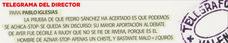 Telegrama para Pablo Iglesias