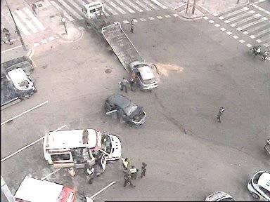 Cuatro heridos leves en dos accidentes de coche en Valencia