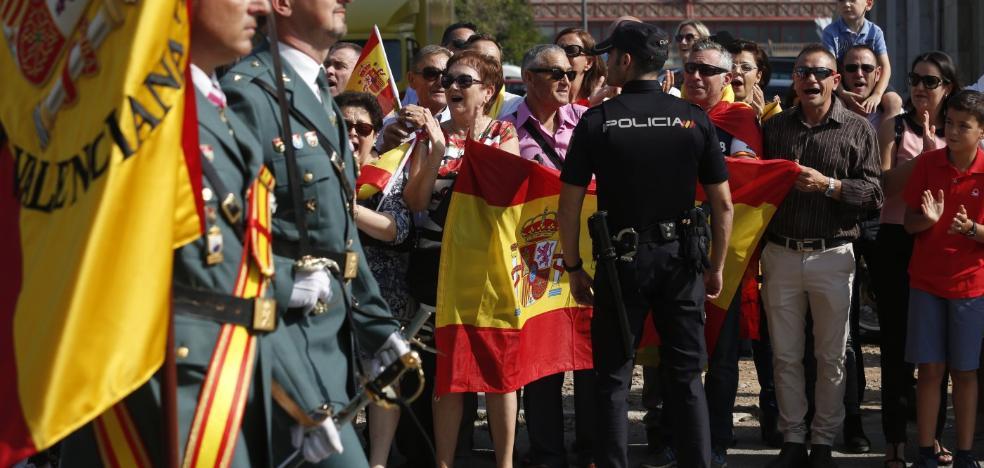 La Guardia Civil recibe el respaldo de los valencianos en el día de su patrona