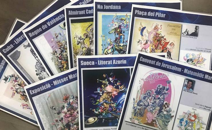 Fotos de los bocetos de los monumentos infantiles de las comisiones de Especial (pertenecen a diferentes categorías)