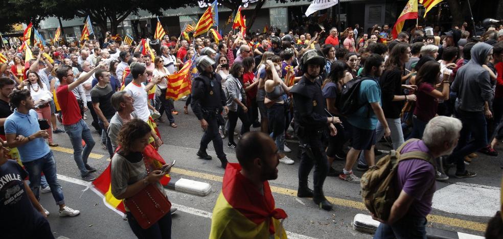 Otros tres arrestados por las agresiones en la manifestación catalanista