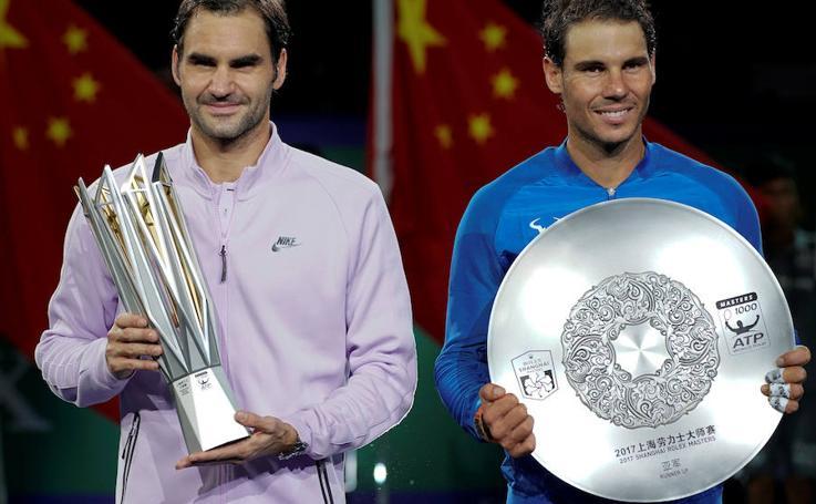 Fotos de la final del Masters 1000 de Shanghái entre Nadal y Federer