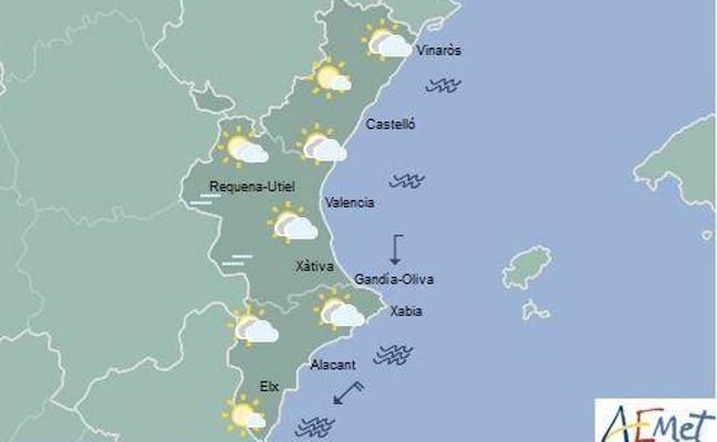 El tiempo en Valencia, Alicante y Castellón | Intervalos de nubes y temperaturas con ligeros cambios mañana en la Comunitat
