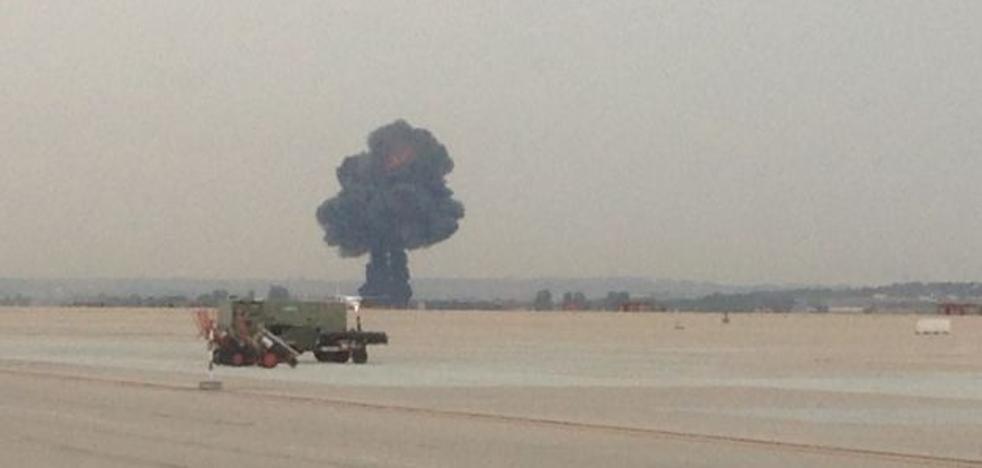 El accidente del F-18 en Torrejon de Ardoz, en imágenes