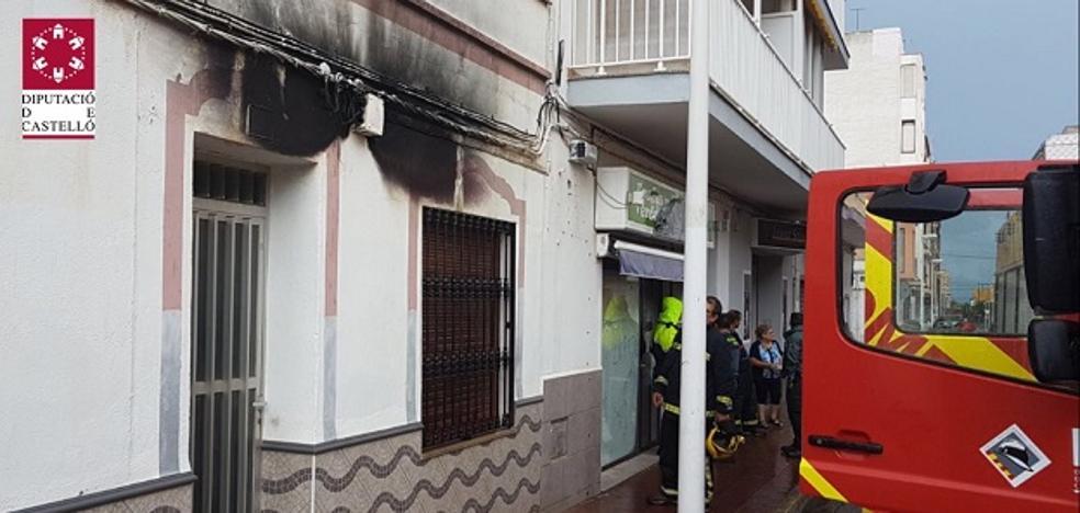 Un rayo impacta en la fachada de una casa de Oropesa