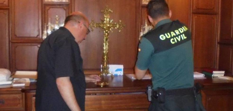 Detenido en Cocentaina por varios robos, entre ellos la figura de San Hipólito, patrón del municipio