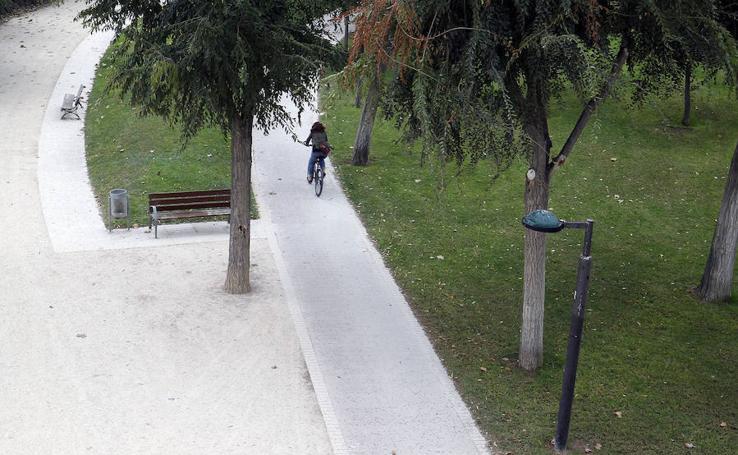 Fotos del nuevo carril bici en Valencia