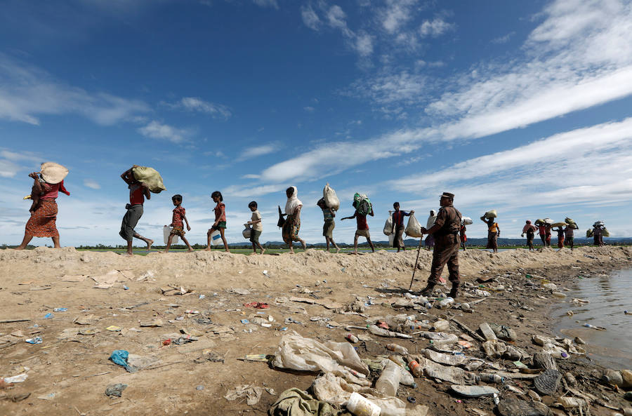 Fotos del éxodo forzoso de los rohinyas de Myanmar