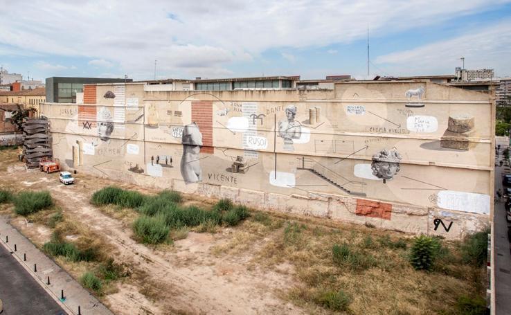 El mural de Escif para el IVAM, explicado por el autor