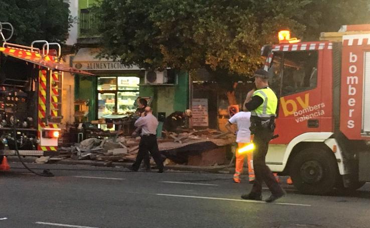 Derrumbe de un edificio en la Avenida del Puerto
