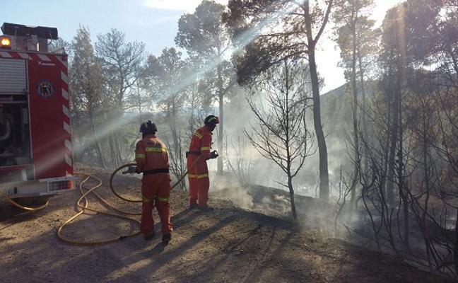7.500 m2 de monte, quemados en Andilla en un incendio forestal