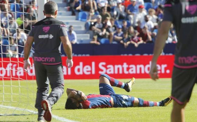 Levante UD - Getafe | Nano sufre un esguince en el ligamento de la rodilla derecha