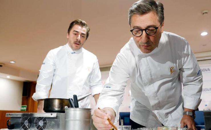 Los hermanos Roca presentan las becas de gastronomía del BBVA