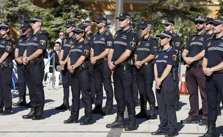 Celebración del día de la Policía Local en Valencia