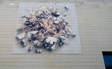 Un trampantojo en la fachada del ivam