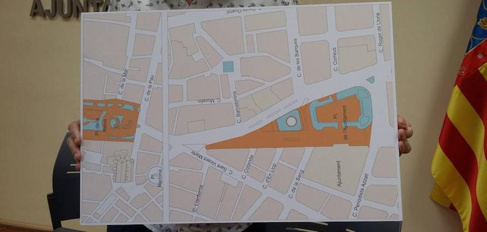El PSPV planta cara a Grezzi y pide que se aborte la peatonalización de la plaza del Ayuntamiento