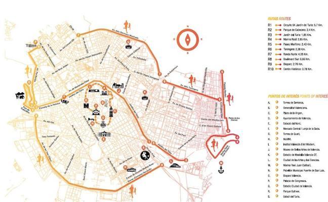 Los 9 nuevos circuitos para hacer running en Valencia
