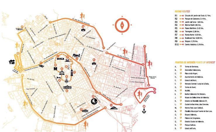 Fotos de los circuitos de running de Valencia