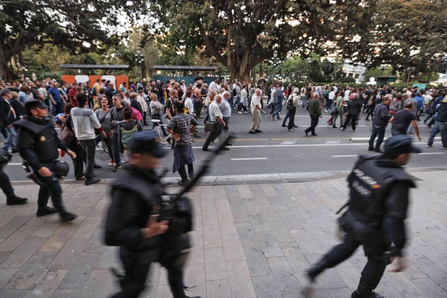 Fotos de la manifestación antifascista en Valencia