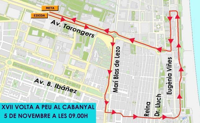 Prohibido aparcar este sábado por la noche en Tarongers por la Volta a Peu al Cabanyal