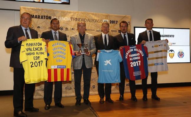 Valencia CF, Levante UD, Villarreal CF y Valencia Basket vuelven a hermanarse por el maratón