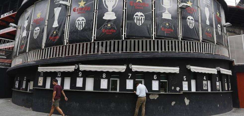 Cerradas las taquillas de Mestalla hasta el próximo lunes