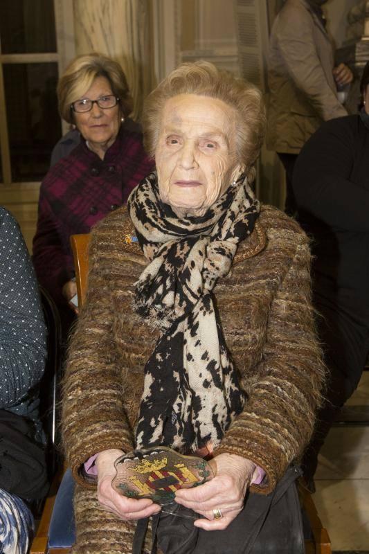Fotos de los centenarios homenajeados en Valencia