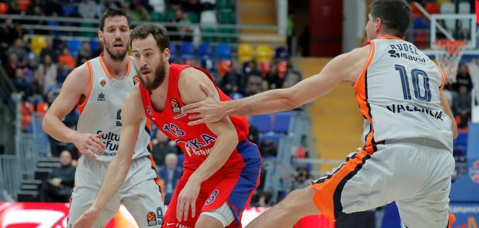 El conjunto taronja se queda corto para pelear el triunfo con el CSKA