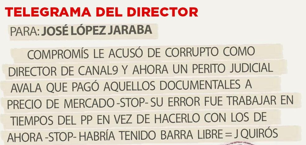 Telegrama para José López Jaraba