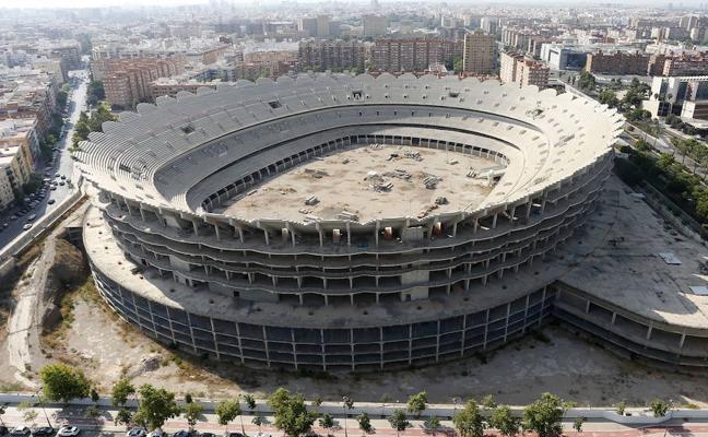 El Valencia CF no prevé iniciar las obras del nuevo estadio hasta dentro de un año y medio